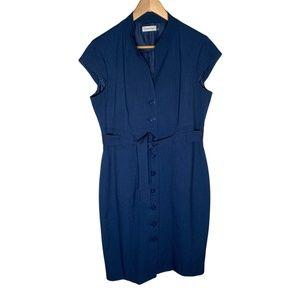 Calvin Klein Womens Dress Size 12 Sheath Buttons
